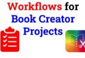 Workflows for Book Creator Projects
