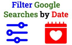 Filter Google Searches by Date