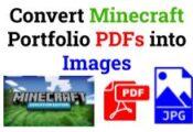 Convert Minecraft Portfolio PDFs into Images